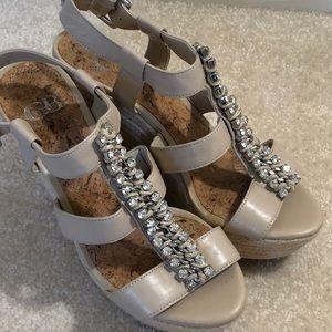 Gianni Bini jeweled wedge platform heels size 6.5